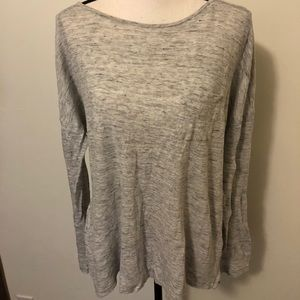 Vince Camuto Gray White Sweater Top Large Shirt